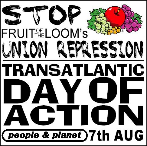 Fruit of the Loom protest