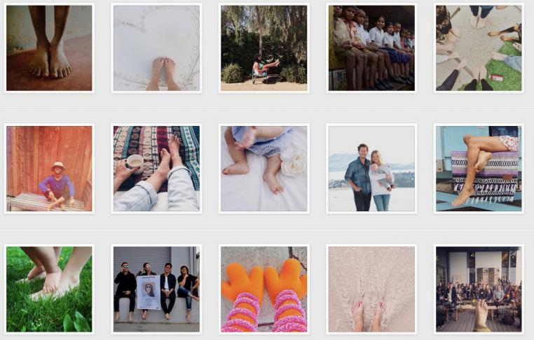 TOMS barefoot Instagram campaign